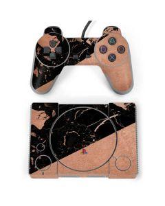 Black and Rose Gold Marble Split PlayStation Classic Bundle Skin