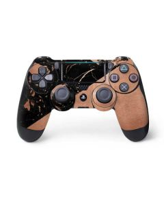 Black and Rose Gold Marble Split PS4 Pro/Slim Controller Skin