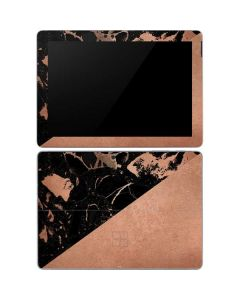 Black and Rose Gold Marble Split Surface Go Skin