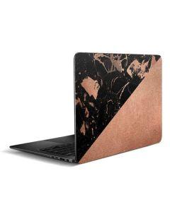 Black and Rose Gold Marble Split Zenbook UX305FA 13.3in Skin