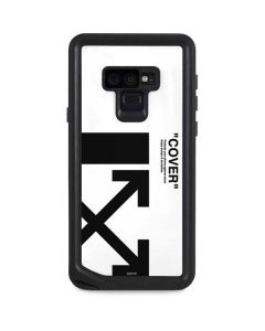 Black and White Arrows Galaxy Note 9 Waterproof Case