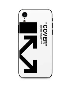 Black and White Arrows iPhone XR Skin