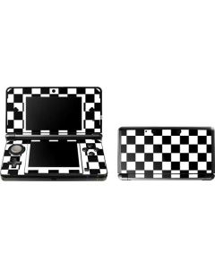 Black and White Checkered 3DS (2011) Skin