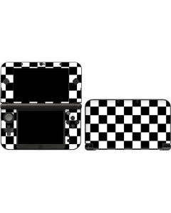 Black and White Checkered 3DS XL 2015 Skin
