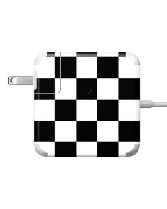 Black and White Checkered Apple Charger Skin