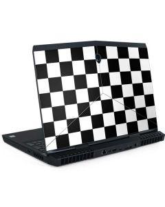 Black and White Checkered Dell Alienware Skin