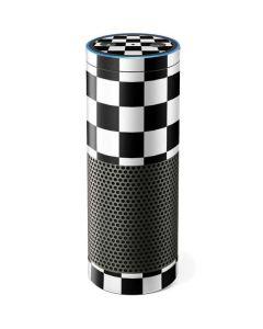 Black and White Checkered Amazon Echo Skin