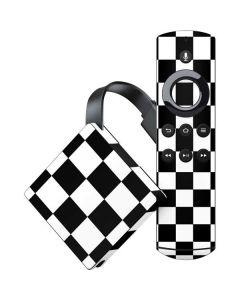 Black and White Checkered Amazon Fire TV Skin