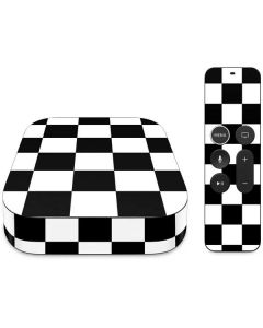 Black and White Checkered Apple TV Skin