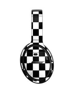 Black and White Checkered Bose QuietComfort 35 Headphones Skin