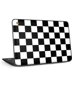 Black and White Checkered HP Chromebook Skin