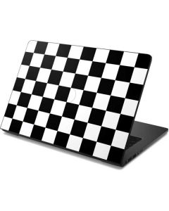 Black and White Checkered Dell Chromebook Skin