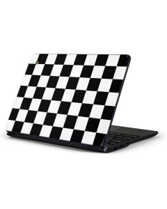 Black and White Checkered Samsung Chromebook Skin