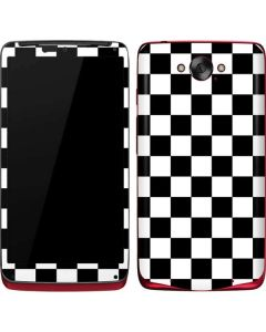 Black and White Checkered Motorola Droid Skin