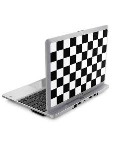 Black and White Checkered Elitebook Revolve 810 Skin