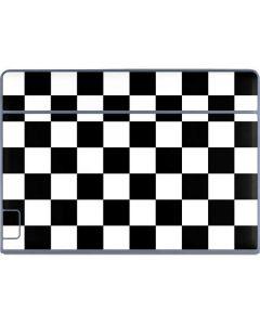 Black and White Checkered Galaxy Book Keyboard Folio 12in Skin