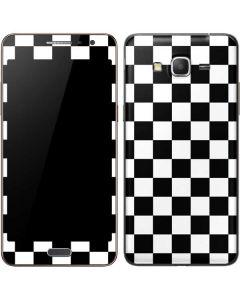Black and White Checkered Galaxy Grand Prime Skin