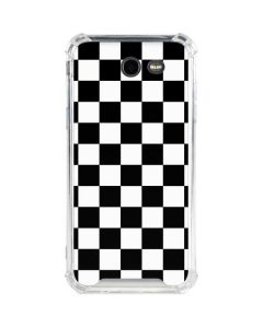 Black and White Checkered Galaxy J3 (2017) Clear Case