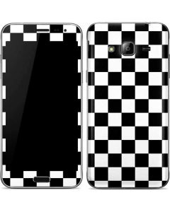 Black and White Checkered Galaxy J3 Skin