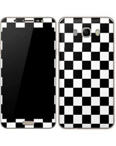 Black and White Checkered Galaxy J7 Skin