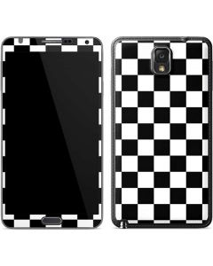 Black and White Checkered Galaxy Note 3 Skin