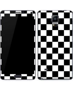 Black and White Checkered Galaxy Note 4 Skin