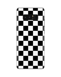 Black and White Checkered Galaxy Note 8 Skin