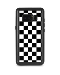 Black and White Checkered Galaxy Note 8 Waterproof Case