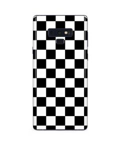 Black and White Checkered Galaxy Note 9 Skin