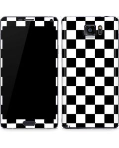 Black and White Checkered Galaxy Note5 Skin