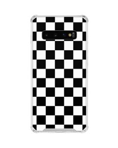 Black and White Checkered Galaxy S10 Clear Case