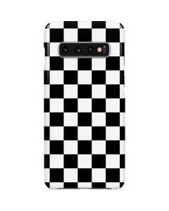 Black and White Checkered Galaxy S10 Lite Case