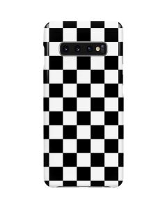 Black and White Checkered Galaxy S10 Plus Lite Case