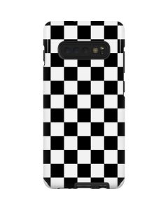 Black and White Checkered Galaxy S10 Plus Pro Case