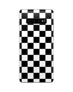 Black and White Checkered Galaxy S10 Plus Skin