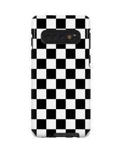 Black and White Checkered Galaxy S10 Pro Case