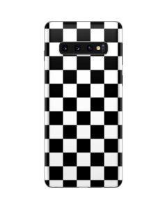 Black and White Checkered Galaxy S10 Skin
