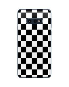 Black and White Checkered Galaxy S10e Skin