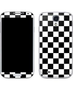 Black and White Checkered Galaxy S4 Skin
