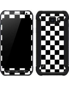 Black and White Checkered Galaxy S6 Active Skin