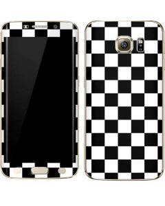 Black and White Checkered Galaxy S6 edge+ Skin