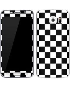 Black and White Checkered Galaxy S6 Skin
