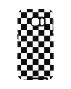 Black and White Checkered Galaxy S7 Edge Pro Case