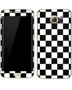 Black and White Checkered Galaxy S7 Edge Skin