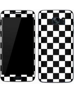 Black and White Checkered Galaxy S7 Skin