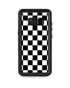 Black and White Checkered Galaxy S8 Plus Waterproof Case