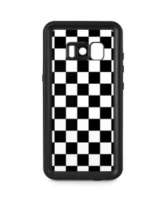 Black and White Checkered Galaxy S8 Waterproof Case
