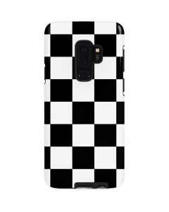 Black and White Checkered Galaxy S9 Plus Pro Case