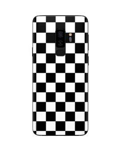 Black and White Checkered Galaxy S9 Plus Skin