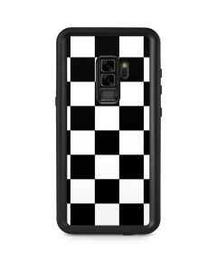 Black and White Checkered Galaxy S9 Plus Waterproof Case